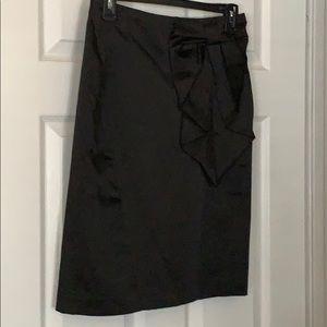 Cute bow black pencil skirt